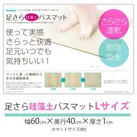 珪藻土バスマット Lサイズ  ■材質:珪藻土、紙パルプ 等 ■サイズ:幅600×奥行き400×厚さ1...