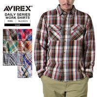 AVIREX アビレックス デイリーウェア 6145212 L/S CTN FLANNEL チェック...