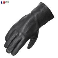 実物 新品 フランス軍 ブラック レザーワークグローブ のご紹介です。  フランス軍実物のレザーグロ...