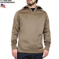 実物 新品 米軍 冬用アンダーシャツ ブラウンのご紹介です。 制式名称:UNDERSHIRT, CO...