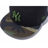 【メーカー取次】 NEW ERA ニューエラ 9FIFTY ニューヨーク・ヤンキース ブラックXウッドランドカモ ホリーリーフロゴ 11308470 キャップ メンズ 野球 ブランド