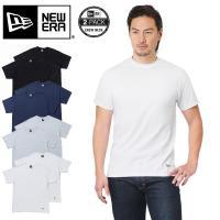 ■商品説明 NEW ERA ニューエラ クルーネック パックTシャツ 2PIECE  肉厚で着崩れし...