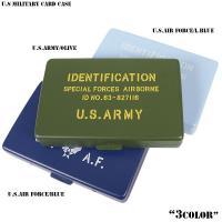 新品 U.S MILITARY カードケース  ミリタリーテイスト溢れるプリントデザインのカードケー...