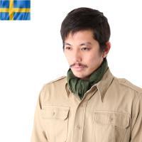 実物 新品 スウェーデン軍スカーフ (バンダナ)のご紹介です。  スウェーデン軍から実物放出で深みの...