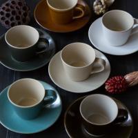 【益子焼 くくシリーズ】益子焼 コーヒーカップ&ソーサー(皿) 益子焼 つかもと モダン 和食器 カップ&ソーサー 食器 皿 和食器