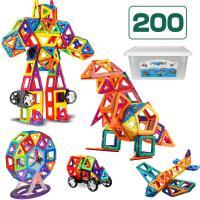 【対象年齢】3歳以上 【素材】ABS、マグネット 【セット内容】 三角形×20個、正方形×30個、正...