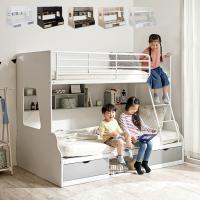 上下サイズ違い/引き出し収納/ラック収納 二段ベッド 2段ベッド 親子二段ベッド シングル セミダブル 親子ベッド Lagos(ラゴス) 4色対応