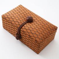 アニタシルク社 ジュエリーボックス 宝石箱ジュエリーケース オレンジブラウン オリエンタル タイ シルク
