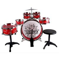 ●6つのドラムとシンバル、スタンド、スティック、イスもついた本格派 ●おうちの中で叩いても大きな音が...