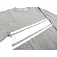 コロンビアニット COLUMBIA KNIT / フットボールTシャツ 3/4 SLEEVE  七分袖 アメリカ製  (グレー)  columbiaknit