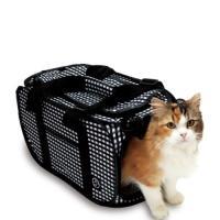 軽くて持ちやすいキャリーです。 猫にストレスを与えない狭すぎず広すぎない空間を確保しています。 折り...