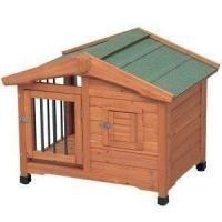 サークルと犬舎を合体させたサークル犬舎です。 夏は涼しく、冬は犬舎の中で暖かく、年中快適に過ごせます...