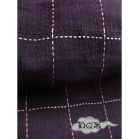 粋な男性用浴衣【変り織】LLサイズ 紫系/格子柄【MTKLL-3】