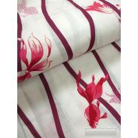 レディース変り織浴衣 COOL STYLE 【F】生成系/よろけ縞・金魚柄【KWF652-30】
