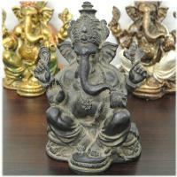 【商品の特徴】アンティークな質感・色合いのレジン製ガネーシャの置物。インドで一番有名で人気のある象の...