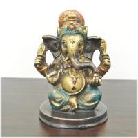 【商品の特徴】アンティークな質感・色合いの真鍮製のガネーシャの置物。インドで一番有名で人気のある象の...
