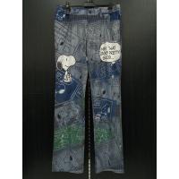 ■商品説明  正規ライセンス商品、新品です。  スヌーピーがプリントされたジーンズスタイルのストレッ...