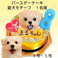 犬用ケーキ 犬用誕生日ケーキ 愛犬モチーフ ささみベース 似顔絵ケーキ 似顔絵立体ケーキ 3号 9cm