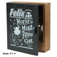 ウッデンキーボックス / 木製壁掛けキーボックス フィリックスザキャット(全3種)  アメリカで誕生...