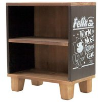 ウッデンミニシェルフ / 木製卓上収納棚 フィリックスザキャット(ブラック)  アメリカで誕生したW...