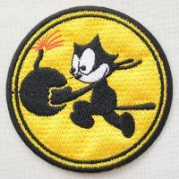 サイズ(約):タテ7.5cm×ヨコ7.5cm  イエロー/ブラック/ホワイト。円形。アメリカ海軍航空...