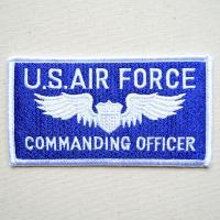 サイズ(約):タテ5.5cm×ヨコ10.5cm  ライトブルー/ホワイト。横長四角形。U.S.Air...
