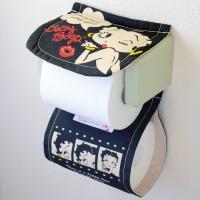 トイレットペーパーホルダー ベティブープ(ブラック) / Toilet Paper Holder B...