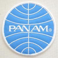 アメリカに存在した航空会社「パンアメリカン航空(通称パンナム)」のロゴ刺繍ワッペン。  サイズ(約)...