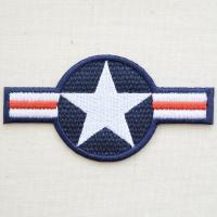 アメリカンなミリタリー(Military)刺繍ワッペン・パッチ。 アメリカ空軍の国籍マーク(国籍標識...