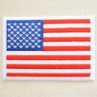 これぞUSA☆とってもシンプルなアメリカ合衆国の国旗(星条旗)の刺繍ワッペン・パッチ。 アメカジファ...