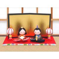 雛人形 ひな人形「ちりめん細工 ちっちゃな友禅座り雛」rh307 コンパクト/リュウコドウ