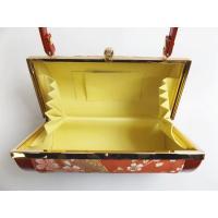 草履 バッグ セット 帯地 振袖 成人式 袴 フリー 24cm 横花弁型 赤色地桜鈴