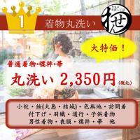 丸洗いは、お着物、羽織、コート類、帯、長襦袢が対象になります。   袴につきましては3121円で専用...