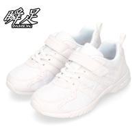 瞬足 シュンソク JJ-184 SJJ1840 白/白 黒 2E キッズ ジュニア スニーカー 子供用運動靴 上履き 通学靴
