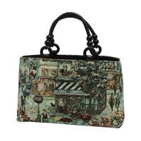 ヨーロッパの街並を施したイタリア製のゴブラン素材を使用したバッグ。 バッグ タテ約21×ヨコ約34×...