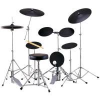●ラバーで出来たスネアパッドおよびタムパッドとABS樹脂でできた、シンバルパッドで生ドラムよりも小さ...