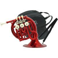 外傷 ミニサイズ French Horn PFH500C red  赤色 本体 管楽器