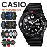 (5年保証)腕時計 メンズ CASIO 10気圧防水 チープカシオ MRW200H アナログ スポーツモデル 時刻合わせ済み