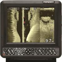 【HONDEX HE-830si-Bo GPS】  左右方向を広範囲に映し出す、サイドスキャンソナー...