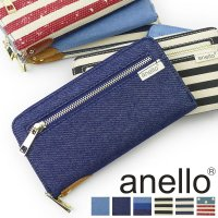 ■ITEM:anello デニム ラウンドファスナー長財布 AT-B0933 カジュアルで爽やかな印...