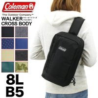【2018年モデル】Coleman(コールマン) WALKER(ウォーカー) CROSS BODY(クロスボディ) ボディバッグ ワンショルダーバッグ 斜めがけ 8L B5 メンズ レディース