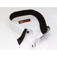 メンズ半袖ワイシャツ(ジャパンフィット・ボタンダウン) BG-556 クールビズ・カッターシャツ・Yシャツ・ブラック系・二重襟・速乾