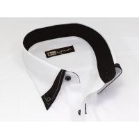 メンズ半袖ワイシャツ(スリムタイプ・ボタンダウン) BG-566 クールビズ・カッターシャツ・Yシャツ・ブラック系・二重襟・細身・速乾