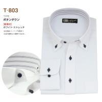 ワイシャツ 長袖 メンズ ストレッチシャツ 12種類から選べる Tシリーズ ビジネス カジュアル LL 3L