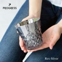 PROGRESS ロックグラス Rex-Silver Jewelry・Glass ガラス チタン 父の日 日本製 SUNFLY クリスマス バレンタイン ギフト 退職 お餞別 誕生日プレゼント  グラス