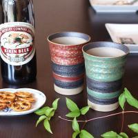 ビール、焼酎はもちろん、お酒以外にも幅広くお使い頂ける大変実用性に優れた陶器のビールグラスです。加賀...