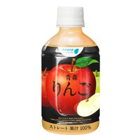 送料無料 青森りんご 280ml 24本入 | 母の日 ギフト JAアオレン りんご ジュース  ストレート 果汁100% ペットボトル プレゼント ポイント消化