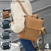 商品名:フェイクレザー スクエアリュック/fake leather square backpack ...