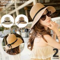 商品名:大人のリボン ストローハット/ Adult ribbon straw hat   (サイズ)...
