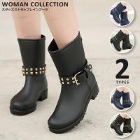 商品名:スタッズストラップレインブーツ/Rain boots with studs strap   ...